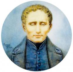 Louis Braille. Inventor del sistema Braille. Era ciego
